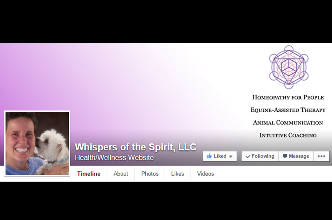 Whispers of the Spirit on Facebook